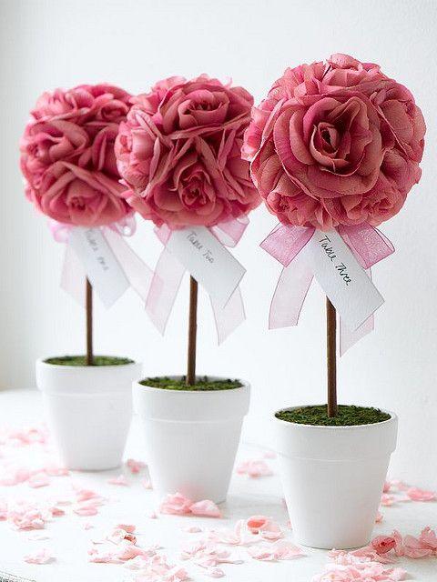 enfeites de mesa noivado e casamento flor