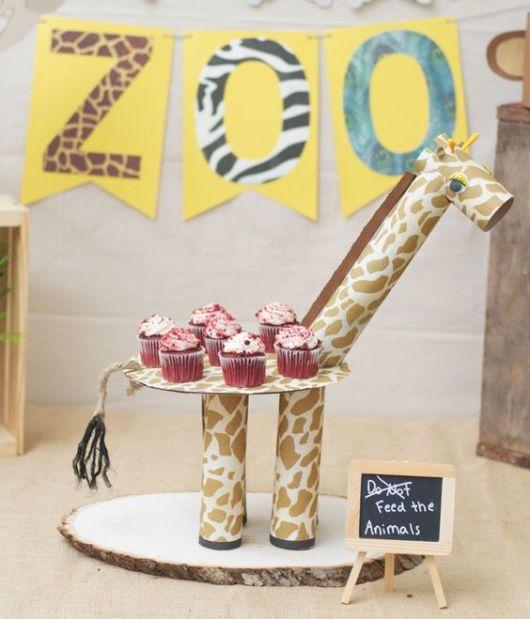 enfeites de mesa passo a passo girafa
