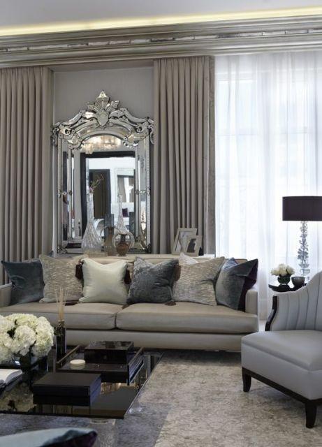 espelho veneziano na sala