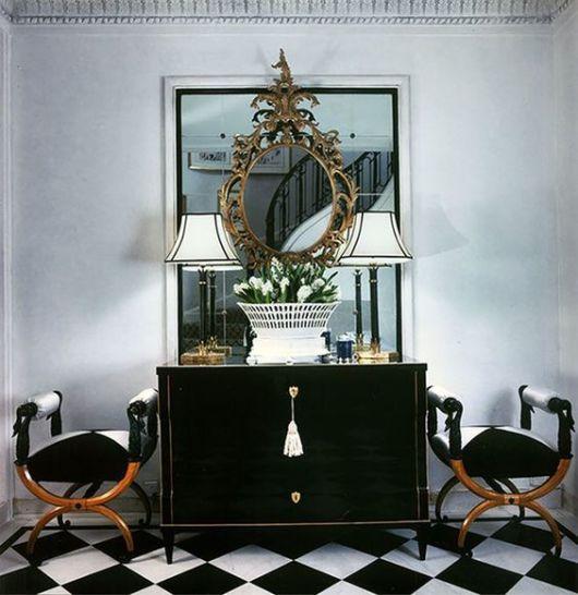 espelho veneziano no hall de entrada RETRÔ