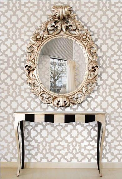 espelho veneziano no hall de entrada sugestão