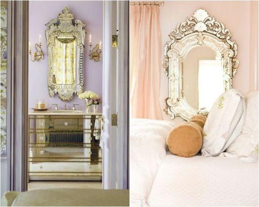 espelho veneziano no quarto dicas