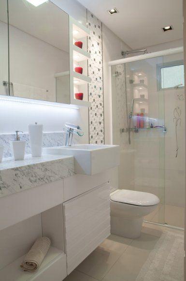 Mármore Carrara Fotos lindas, Preço e Dicas! -> Banheiro Decorado Com Pia De Marmore