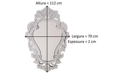 medidas do espelho veneziano decorativo