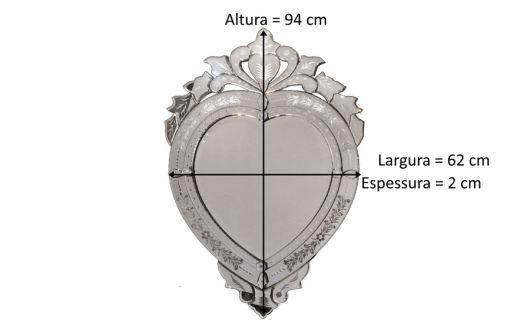 medidas do espelho veneziano retrô