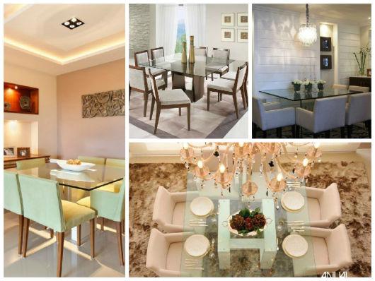 Sala De Jantar Mesa Com Vidro ~ Mesa de jantar de vidro Como escolher + 45 modelos lindos