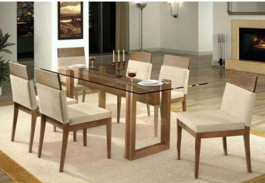 Fotos de salas de jantar com mesa de vidro