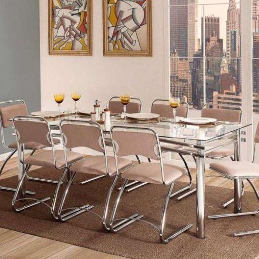 mesa de jantar retrô