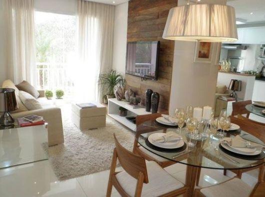Mesa de jantar de vidro como escolher 45 modelos lindos - Mesa comedor pequena ...