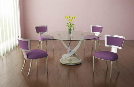 Mesa de jantar de vidro como escolher 45 modelos lindos - Mesas redondas modernas ...