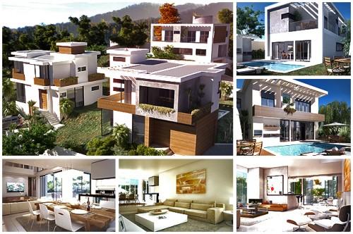 muitas casas lindas