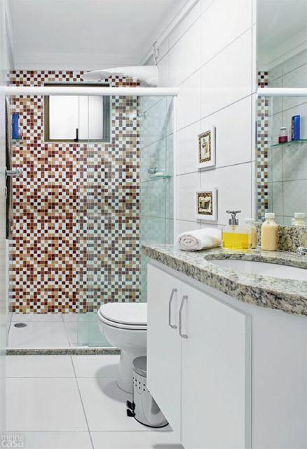 Pastilhas Adesivas Onde usar, Aplicação e Preços! -> Banheiro Decorado Com Pastilhas Marrom