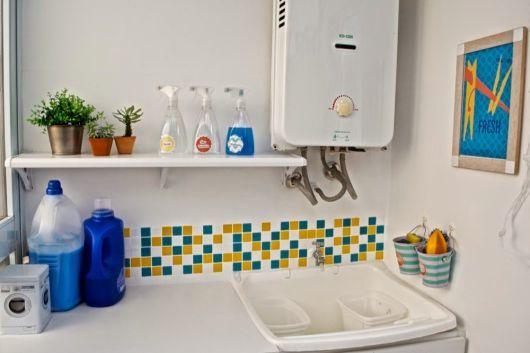 lavanderia pequena decorada