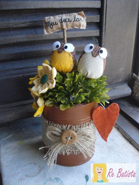 lata de nescau decorada