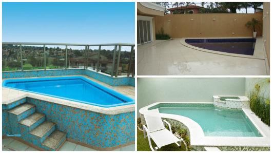 Piscinas pequenas 50 projetos inspiradores Fotos piscinas para espacios pequenos