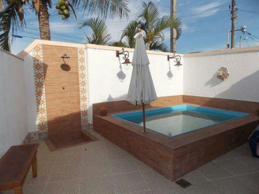 Piscinas pequenas 50 projetos inspiradores for Modelos de piscinas en fincas