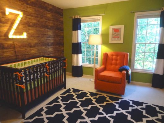 quarto de bebê de menino luzes