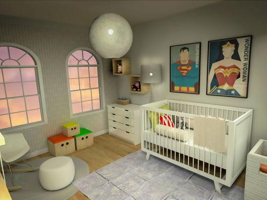 quarto de bebê menino heróis