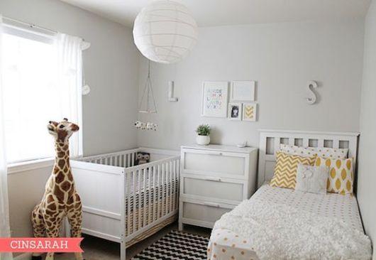quarto de bebê moderno bebe e irmão