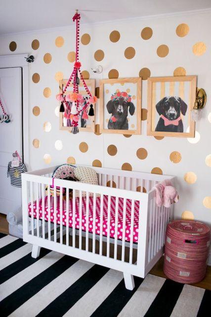 quarto de bebê moderno cães