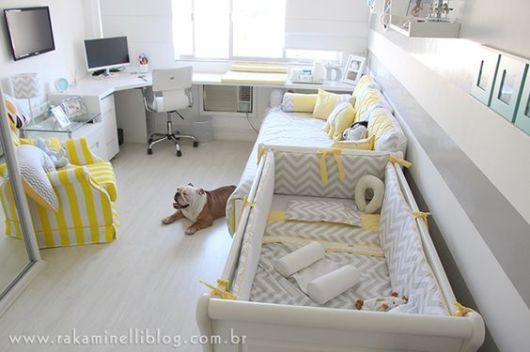 quarto de bebê moderno irmãos -