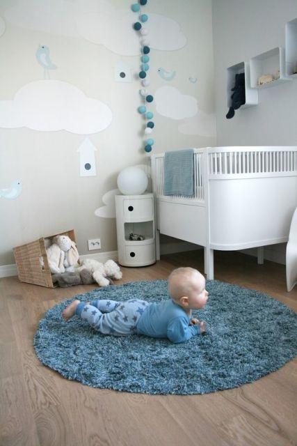 quarto de bebê moderno meninos