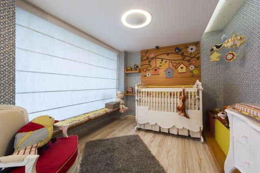 quarto de bebê moderno revestimento