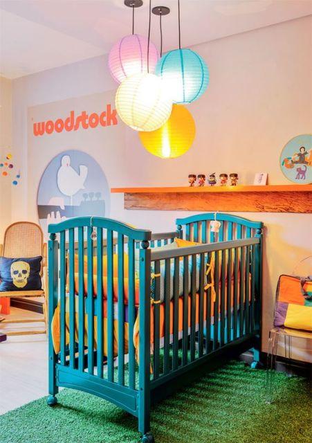 quarto de bebê moderno rock