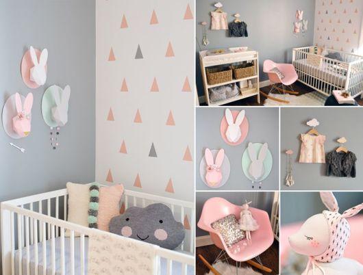 quarto de bebê moderno rosa