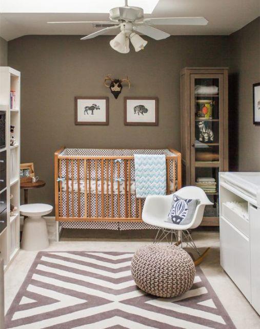 quarto de bebê moderno sóbrio