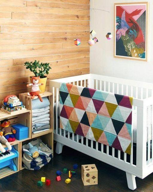 quarto de bebê moderno sem tema