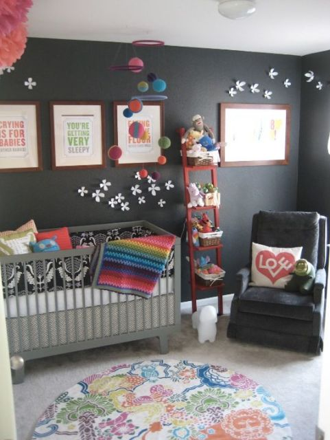 quarto de bebê modernos feminino