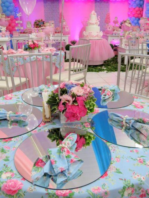 festa rosa e azul
