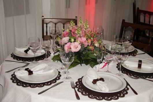 mesa simples casamento