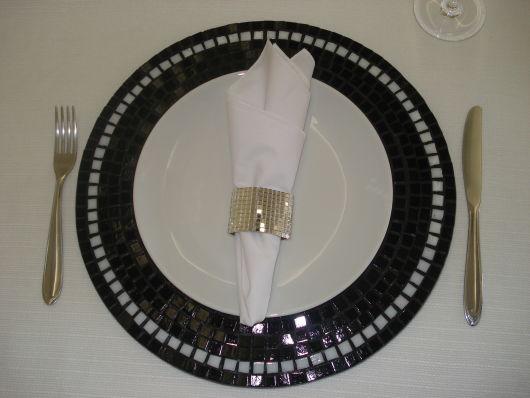 modelo de mosaico preto