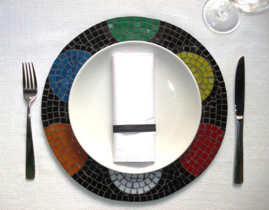 modelo de mosaico colorido