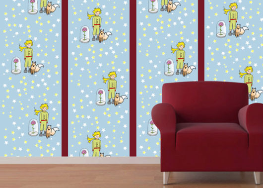 Papel de parede para quarto de bebê do pequeno príncipe