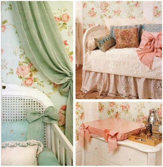 Papel de parede para quarto de bebê flores feminino