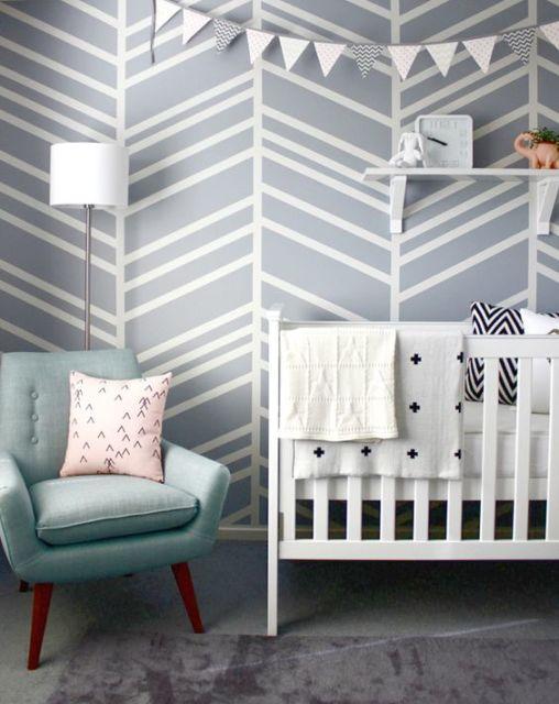 Papel de parede para quarto de bebê formas