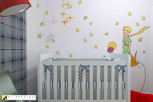 Papel de parede para quarto de bebê pequeno príncipe menino