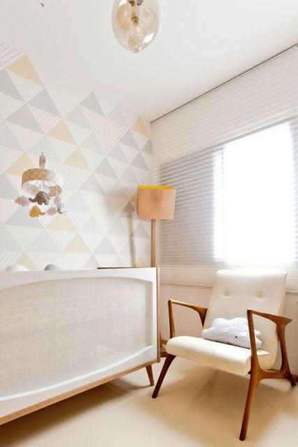 Fotos quartos de bebe decorados com papel de parede 26