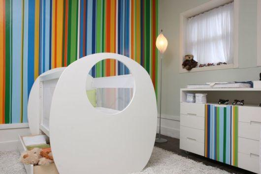 Papel de parede para quarto de bebê unissex moderno