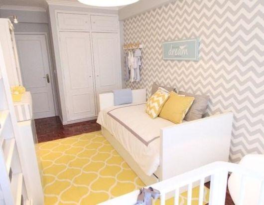 Papel de parede para quarto de bebê unissex zigzag  Doce Obra