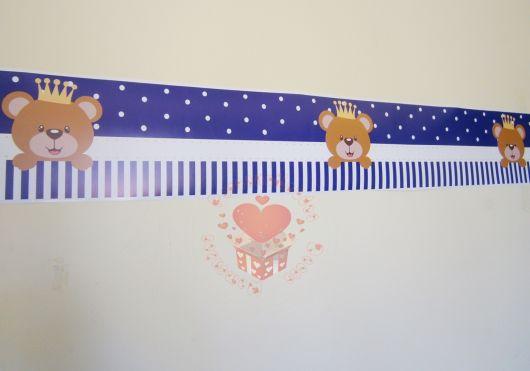 Papel de parede para quarto de bebê ursinho pequeno príncipe