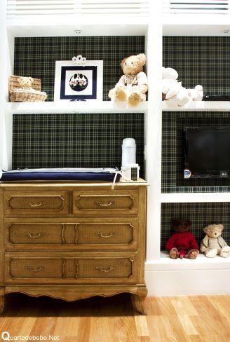 Papel de parede para quarto de bebê xadrez escuro