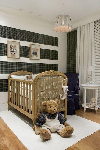 Papel de parede para quarto de bebê 65 modelos lindos ~ Cores De Parede Para Quarto De Bebe Masculino