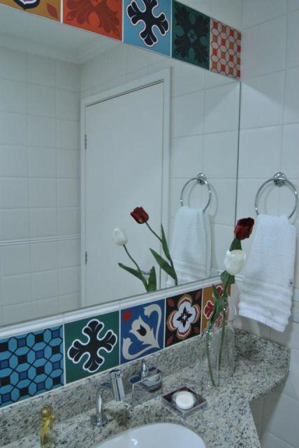 Decoração bancada banheiro