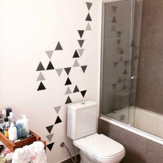Adesivos para banheiro modelos, tipos e 60 fotos! -> Decoracao Banheiro Adesivos