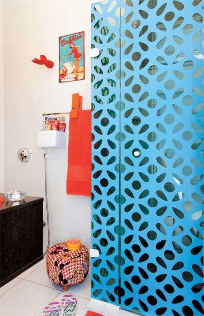 Decoração colorida banheiro