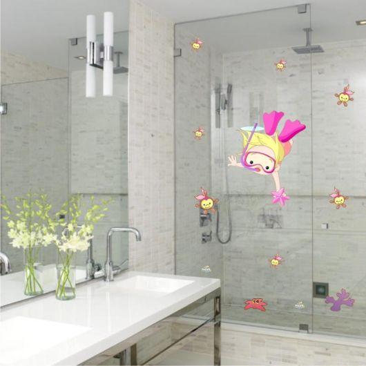 Adesivos para banheiro modelos, tipos e 60 fotos! -> Adesivos Para Pia De Banheiro